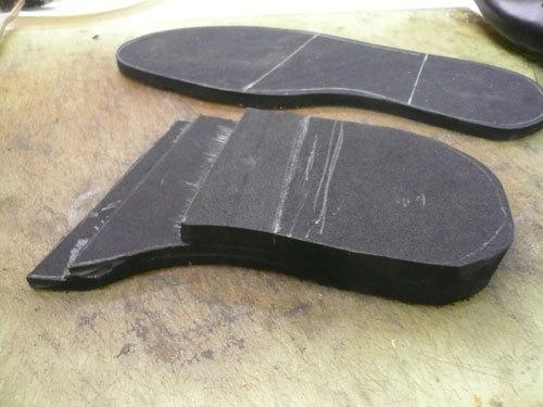 ウェッジソールの作り方 靴づくり、ときどきBLOG